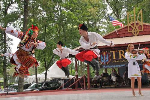 At this Philly-area Ukrainian Folk Festival, mad dance moves,  pierogi, beer, and heritage swirl together